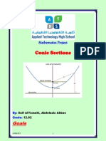 maths project-conic sections