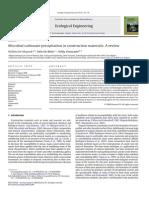 Microbial Carbonate Precipitation Review