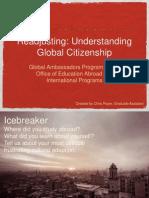 readjusting - understanding global citizenship