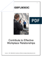 BSBFLM303C Contribute to Effective Workplace - Reading Material
