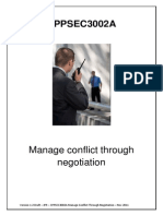 CPPSEC3002A Manage Conflict Through Negotiation - Reading Material