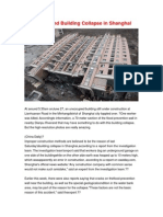 Fact Behind Building Collapse in Shanghai S
