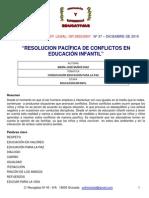 Resolucion Pacifica de Conflictos en Educacion Infantil