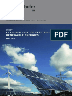 Study Levelized Cost of Electricity Renewable Energies En