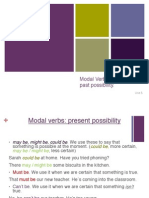 Modal Verbs Possibility Corrected