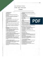 Subiecte Admitere Mg 2012