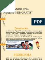 CREANDO UNA PÁGINA WEB GRATIS ANA