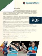 Actividades Dae Talleres Deportivos 2014Universidad Mayor -  Temuco