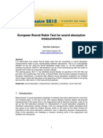 European Round Robin Test for Sound Absorption