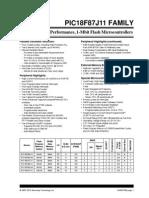 PIC18F87J11 datasheet