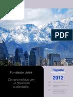 Reporte Sustentabilidad (Ambiental) Fundición Jofré y CIA. Ltda., 2012