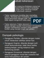 Faktor Penyebab Kekerasan Seksual