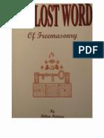 Hilton Hotema - The Lost Word of Freemasonry