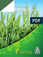 Trigo e Triticale 2013