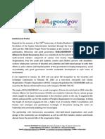 Institutional Profile ICALL4GOODGOV
