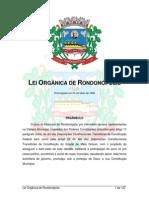 Lei Organica Rondonopolis