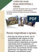 Trabajo Rocas Diapositivas