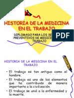 Historia de La Medicina en El Trabajo