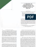 Balaguer a Theory of Mathematical Correctness