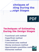 Techniques estimating cost