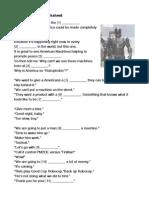 Robocop Movie Worksheet
