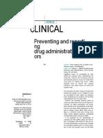 Journal in Medication Error