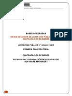 BASES LP ADQUISICIÓN Y RENOVACIÓN DE SOFTWARE - BASES INTEGRADAS