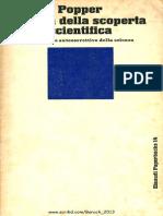 Karl Popper - La Logica Della Scoperta Scientifica