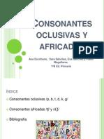 consonantes oclusivas y africadas