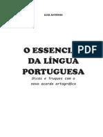 o Essencial Da Lingua Portuguesa