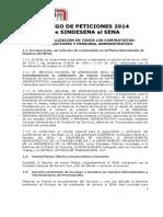 Pliego de Peticiones Sindesena a Radicar 28 de Enero de 2014 (1)