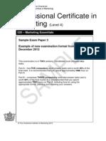 CIM Sample Exam Paper 3