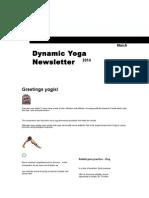 Dynamic Yoga Newsletter Winter 2014