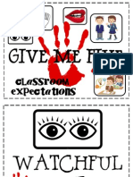 give me five expectations