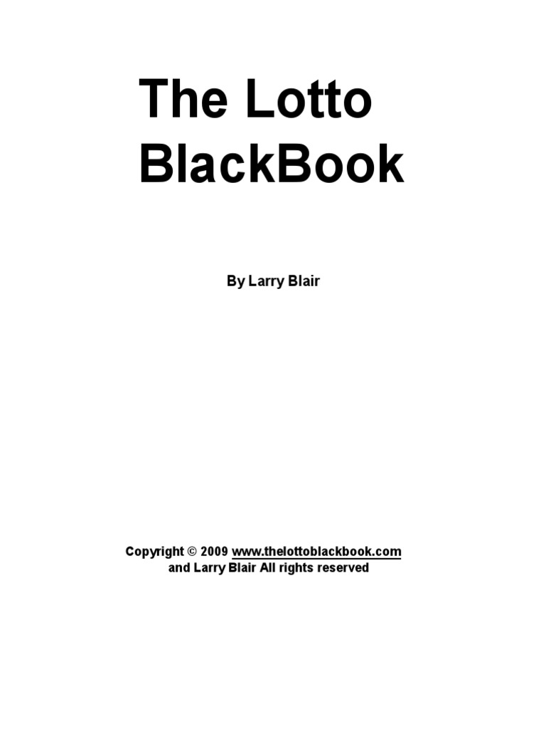 The lotto black book   Lottery   Gambling