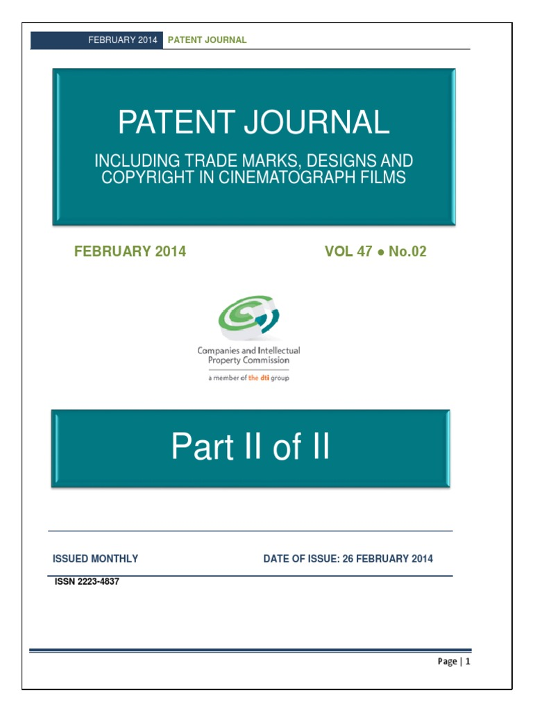 February 2014 - Part 2 of 2 | Patent Application | Trademark