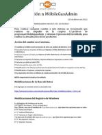 Actualizacion MobileGasAdmin Ver 3 5 0 1 220212 y Neopos