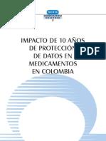 Cortés et al '12 Impacto de 10 años de protección de datos en medicamentos en Colombia