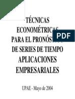 Tecnicas Econometricas - Series de Tiempo (ARIMA)