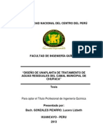 DISEÑO DE UNA PLANTA DE TRATAMIENTO DE AGUAS RESIDUALES DEL CAMAL MUNICIPAL DE CHUPACA..