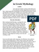 Heroes in Greek Mythology