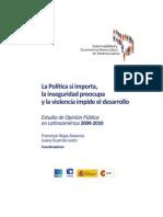 La política si importa, la violencia preocupa y la violencia impide el desarrollo