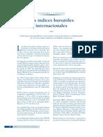 Los Indices Bursatiles Internacionales 2008