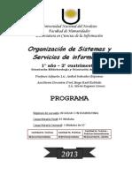 PROGRAMA - ORGANIZACIÓN DE SISTEMAS Y SERV DE INF - 2013