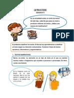 SESIÓN N°3 SEXTO DE PRIMARIA (TIPOS DE TEXTOS)