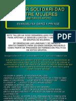 Taller Solidaridad Mujeres 2012