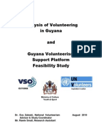 Guyana Volunteerism Study With UNV