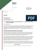 Goodman Birtcher's letter to Dickinson Township supervisors