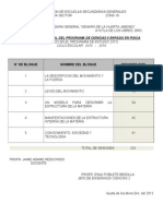 FISICA Dosifcion y Jerarq 2013 - 2014 JAIME