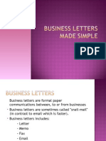 Business Letter Lecture